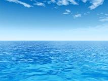 Hoge resolutie blauw water Royalty-vrije Stock Foto's