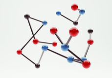 Moleculaire Structuur Royalty-vrije Stock Fotografie