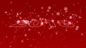 Hoge resolutie de reeks van de 2018 Nieuwjaaranimatie stock illustratie