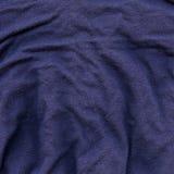 De katoenen Donkerblauwe Textuur van de Stof - Stock Foto