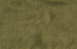 De katoenen Textuur van de Stof - Groene Olijf Royalty-vrije Stock Foto