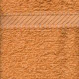 De Textuur van de Doek van de handdoek - Beige & Strepen Royalty-vrije Stock Foto
