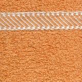 De Textuur van de Doek van de handdoek - Beige & Strepen Stock Fotografie