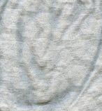 De katoenen Textuur van de Stof - Grijs met Wit Patroon Stock Afbeelding
