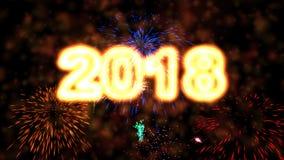 Hoge resolutie 2018 Nieuwjaaranimatie royalty-vrije illustratie