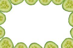 Hoge resolutieframe dat van komkommerplakken wordt gemaakt stock afbeelding