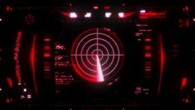 Hoge resolutielengte van futuristische interface vector illustratie