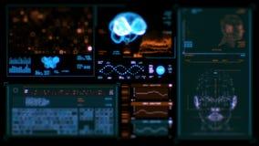 Hoge resolutielengte van futuristische interface royalty-vrije illustratie
