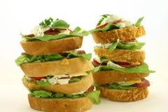 Hoge sandwich twee Royalty-vrije Stock Foto's
