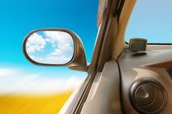 Hoge snelheid in de auto royalty-vrije stock fotografie