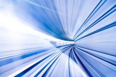 Hoge snelheid in de tunnel Stock Foto's
