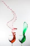 Hoge snelheid gekleurde kopplons Stock Foto