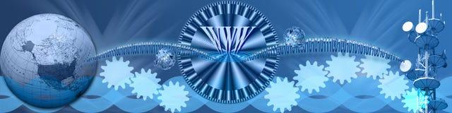 Hoge snelheid Internet wereldwijd Stock Foto's