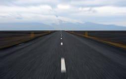 Hoge snelheid op de weg stock foto