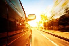 Hoge snelheidsauto royalty-vrije stock foto's