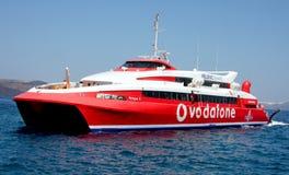 Hoge snelheidsboot Stock Foto