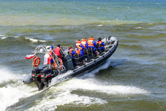 Hoge snelheidsboot Stock Afbeeldingen