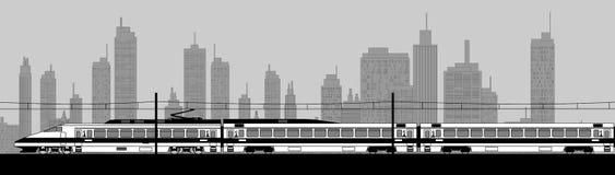 Hoge snelheidstrein vector illustratie
