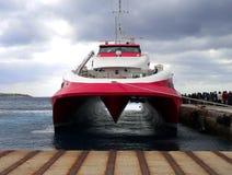 Hoge snelheidsveerboot Stock Afbeelding