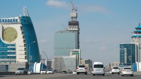 Hoge snelheidsweg in Astana stock videobeelden