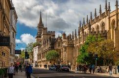 Hoge St, Oxford stock foto's
