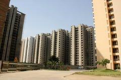 Hoge stijgingsgebouwen, Jaypee-Greens, Noida, India stock afbeelding