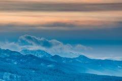 Hoge Tatra-Bergen in de avond, Polen Royalty-vrije Stock Fotografie
