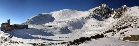Hoge Tatras in de winter Stock Afbeeldingen