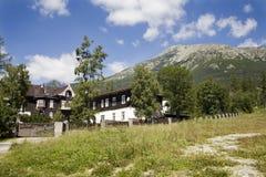 Hoge Tatras - Hotel in Stary Smokovec stock foto's