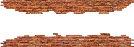 Hoge textuur van bakstenen muur - kwaliteit, op wit wordt geïsoleerd dat stock afbeeldingen