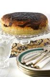 Hoge thee van de chocolade de mable cake Royalty-vrije Stock Foto's
