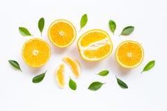 Hoge Vitamine C Verse oranje citrusvruchten stock foto