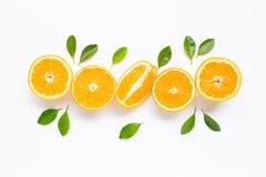 Hoge Vitamine C Verse oranje citrusvruchten royalty-vrije stock foto's
