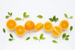 Hoge Vitamine C Verse oranje citrusvruchten stock afbeelding
