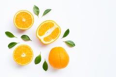Hoge Vitamine C Verse oranje citrusvruchten stock foto's