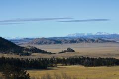Hoge vlaktes tussen waaiers in Rocky Mountains royalty-vrije stock afbeeldingen