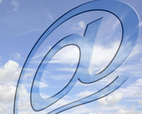 Hoge vliegende mededelingen Royalty-vrije Stock Afbeelding