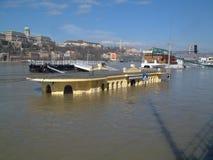 Hoge vloed in Boedapest Royalty-vrije Stock Fotografie