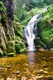 Hoge waterval Kamienczyk dichtbij de stad Sklarska Poreba - verticaal Stock Afbeeldingen