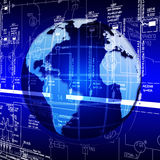 Hoge wereldtechnologieën Stock Foto's