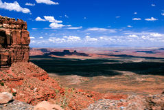 Hoge Woestijn - Moki Dugway stock foto's