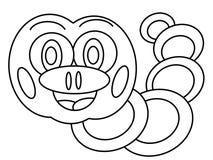 Hoge worm - kwaliteitsjonge geitjes die pagina's kleuren stock illustratie