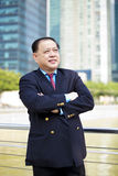 Hoger Aziatisch zakenman het glimlachen portret stock fotografie