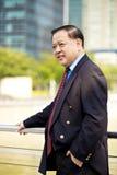Hoger Aziatisch zakenman het glimlachen portret stock afbeeldingen