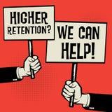 Hoger Behoud? Wij kunnen helpen! royalty-vrije illustratie