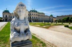 Hoger Belvedere Kasteel in Wenen royalty-vrije stock afbeelding