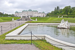Hoger Belvedere Paleis in Wenen Royalty-vrije Stock Afbeelding