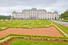 Hoger Belvedere Paleis in Wenen Stock Afbeelding