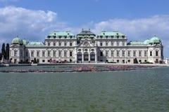 Hoger Belverdere-Paleis - Wenen - Oostenrijk stock afbeelding