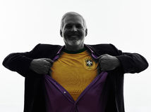 Hoger Braziliaans de mensensilhouet van de verdedigersventilator Stock Afbeelding